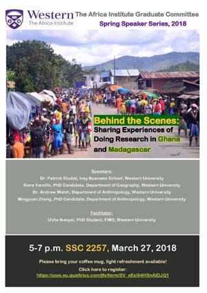 Research in Ghana and Madagascar Event Poster