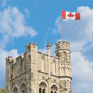 uc tower canada flag