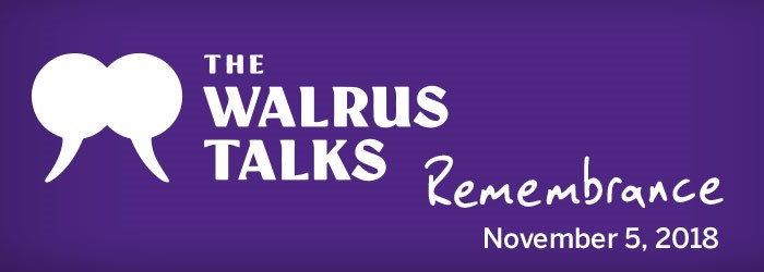 purple background The Walrus Talks Remembrance November 5, 2018