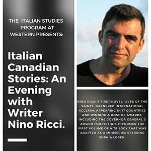 Italian Canadian Stories: an Evening with Writer Nino Ricci