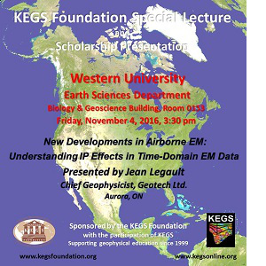 KEGS Special Lecture: Jean Legault (Geotech Ltd)