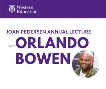 Joan Pedersen Annual Lecture with Orlando Bowen