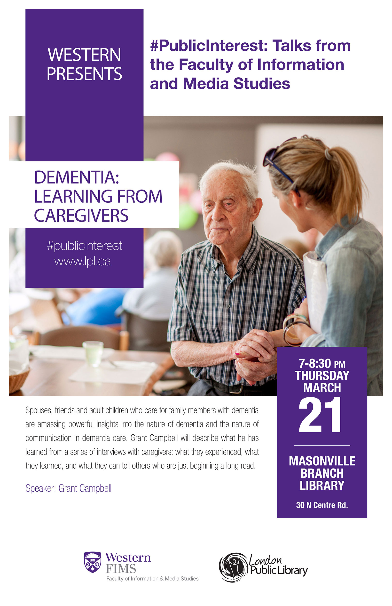 Poster for Dementia: Learning from Caregivers